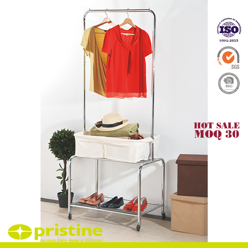 Rolling On Wheels With Hanging Rack
