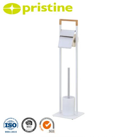Free Standing Toilet Brush and Paper Holder