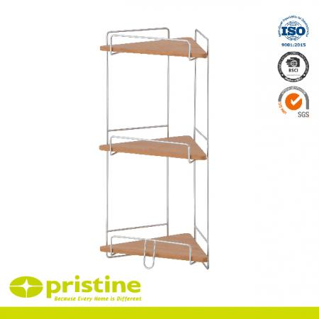 3 Tier Bathroom Bamboo Corner Shelf - Bathroom corner rack Shelf