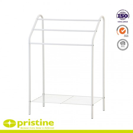 3-Tier Freestanding Towel Rack - Sturdy construction with bright chrome plated metal frame