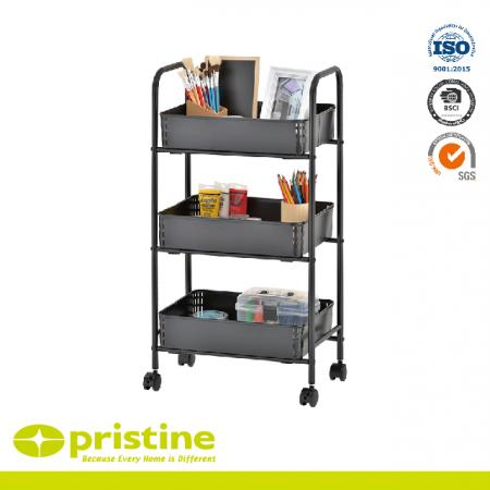 3 Tier All Purpose Utility Cart - Rugged construction and good durability