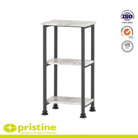 Bathroom Storage Shelf with 3-Tiers - 3-shelf space saving slim shelving unit