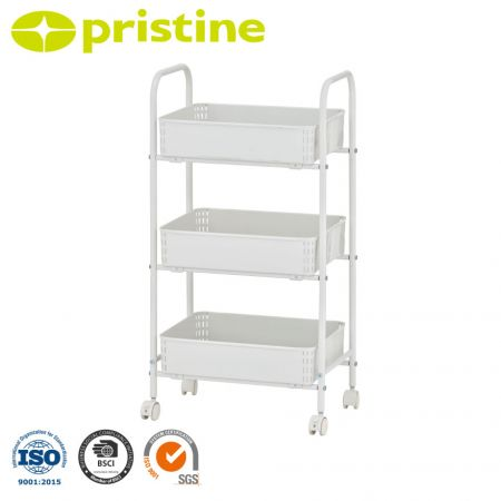 3-Tier All Purpose Utility Cart - Easy assembly, no tools required.