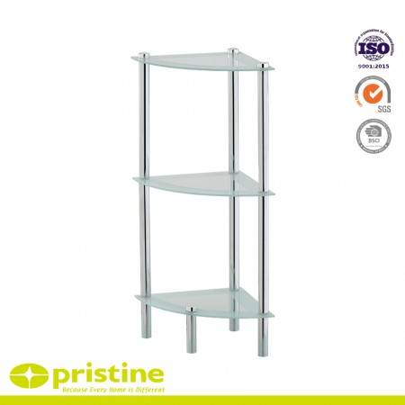 3-Tier Glass Corner Shelf - 3-Tier Glass Corner Shelf