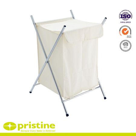 Folding X-Frame Laundry Sorter Hamper - Chrome X frame laundry hamper