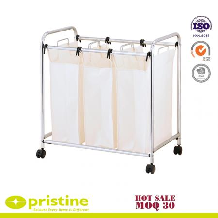 HeavyDuty 3-Bag Laundry Sorter Cart - 3 Compartments laundry sorter