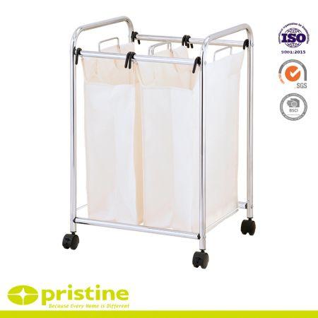 Basics 2-Bag Laundry Sorter - Laundry hamper sorter