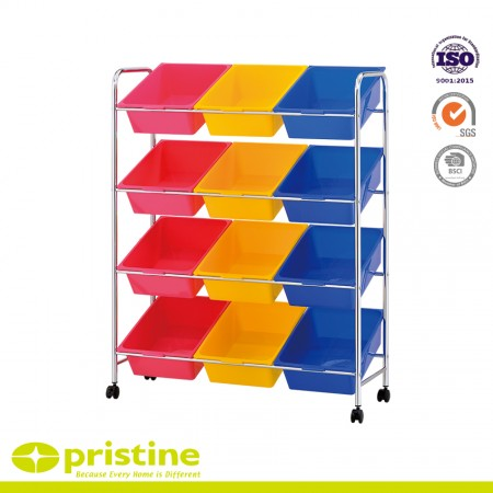 12-Plastic Drawer Carts - Plastic storage bins