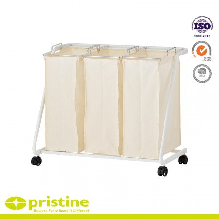 Laundry Sorter Cart with 3 Removable Bags - Laundry hamper sorter