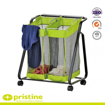 Laundry sorter with wheels