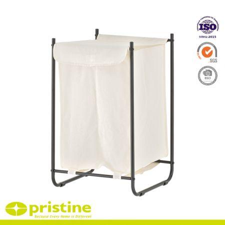 2 Sections Laundry Hamper - 2 bag laundry sorter cart