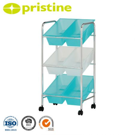 6 Bin Toy Storage Cart