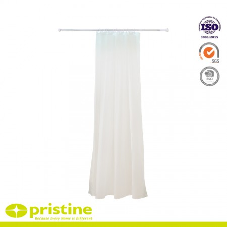 Adjustable Curved Shower Curtain Rod - Shower curtain rod is adjustable to fit all standard bathtub sizes