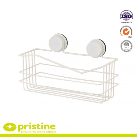 Suction Cup Shower Caddy From Shampoo - The suction cup is made of premium quality rubber, and the soap dish is powder coating steel