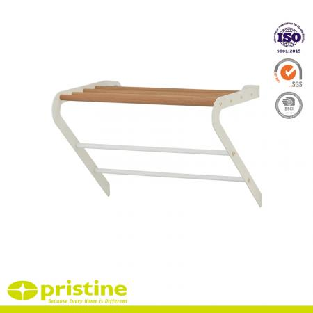 Wall Mounted Towel RackWith Wood Grain