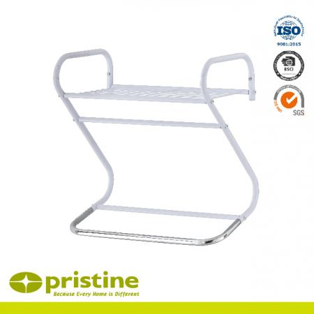 Curve Design Wall Mounted Towel Rail With Wire Shelf