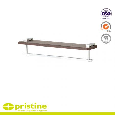 Wall Mounted Shelf with Towel Rail