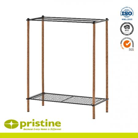 Freestanding Design Towel Stand With Wood Grain - Bathroom Rack