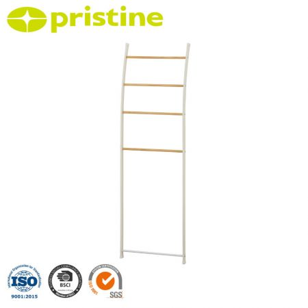 Leaning Ladder Rack - Set it up in the living room, bedroom or bathroom to instantly rid the space of clutter.