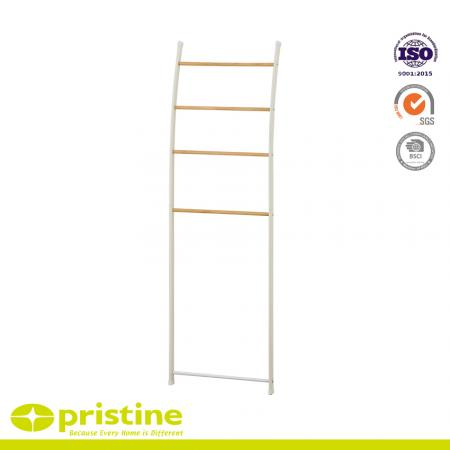Free Standing Towel Ladder rack With Wood Grain
