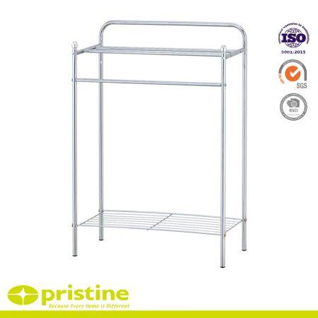 2-Tier Metal Towel Rail Stand