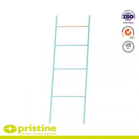 Metal Towel Rack with 4 Rings - Tower Leaning Ladder Rack