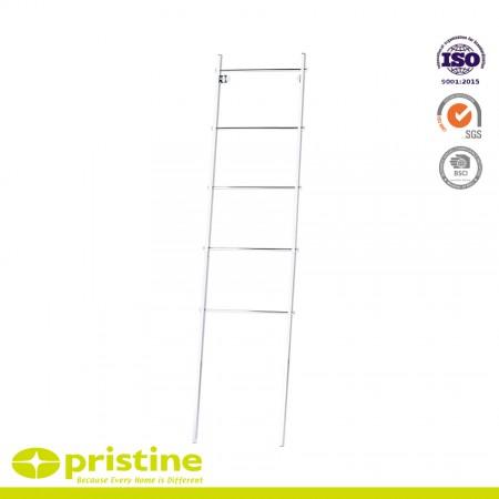 Free Standing Bath Towel Bar Storage Ladder - 5 Rungs - Free Standing Bath Towel Organizer