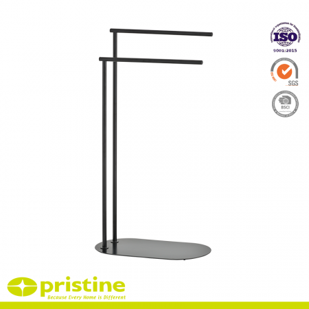 2-Bar Towel Rack with Metal