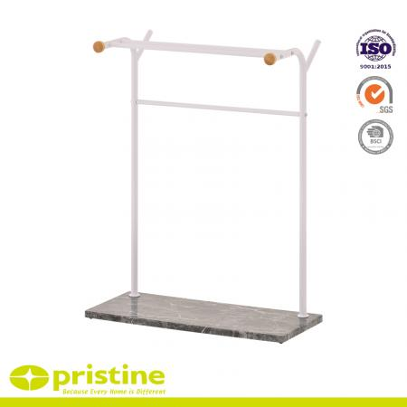 Bathroom Towel Rack Bar Holde with Black Marble Film - light weight design, easy to move and store