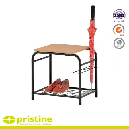 Entryway Shoe Rack Bench with Umbrella Holder