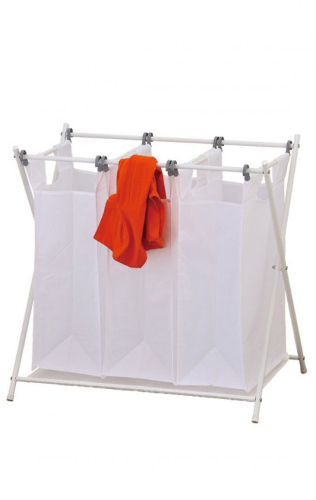 3 Bag Laundry Sorter - The triple laundry sorter make it easy to keep things separated and moving along in an orderly fashion