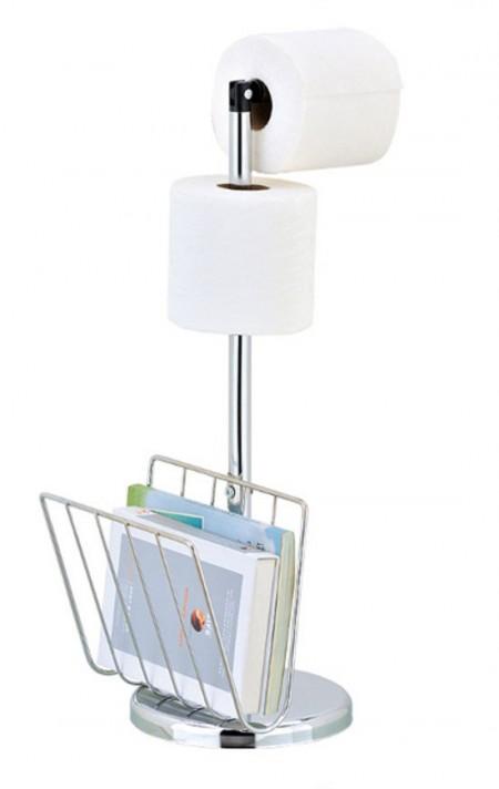 Free Standing Toilet Paper & Magazine Holder