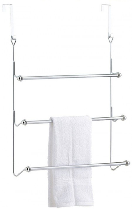 Over Door Towel Rack & Rail - Over the door towel hook creates the extra space in your bathroom for towels, toiletries and more