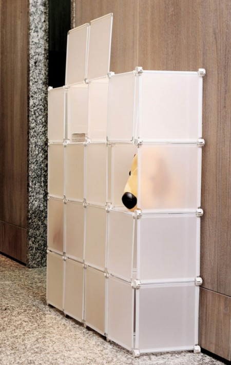 Plastic Storage Cube - You can assemble this item into different styles to satisfy your various storage needs