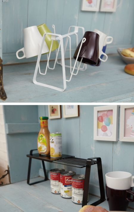 Tabletop Rack - Suitable for many types of décor, these racks feature an elegant powdered coated steel with a beautiful finish