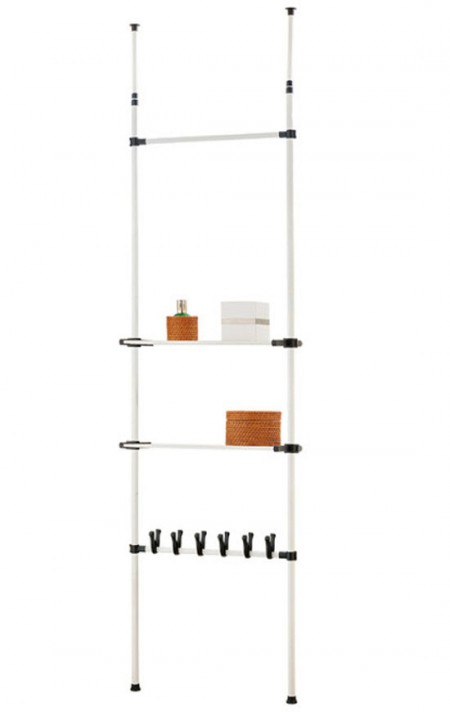Telescopic Clothes Rack - Ceiling Telescopic Storage Shelving