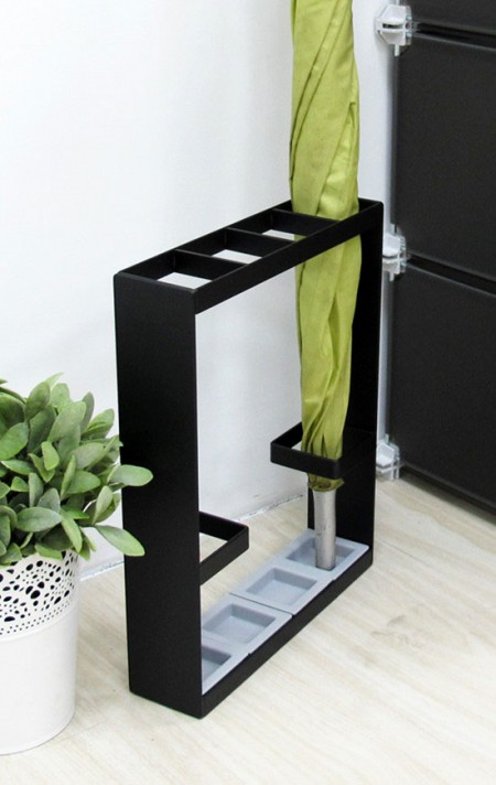 Umbrella Holder - Slimline Indoor Black Umbrella Stand