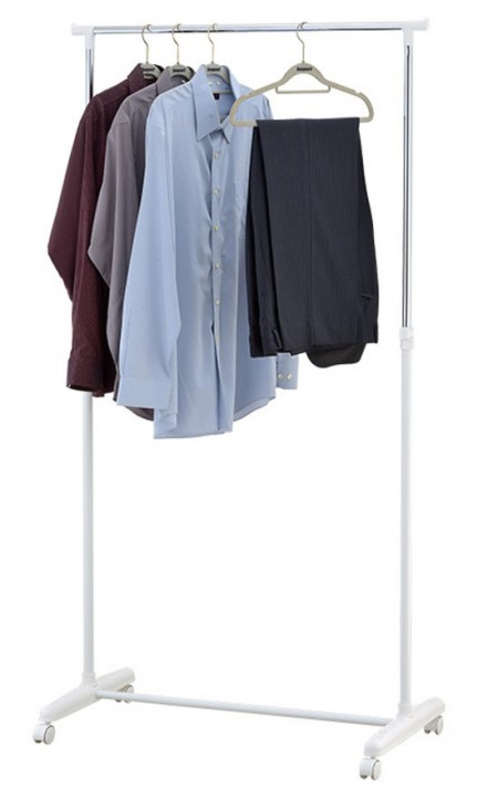 Single Garment Rack - Adjustable Single Rail Clothes Garment Rack