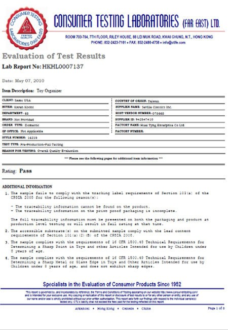 Evaluation Of Test Results