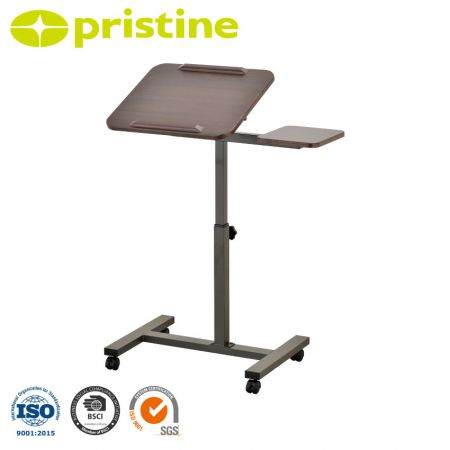 Table top Laptop Cart - Portable stand with 4 wheels that move 360°, easy to move around in any direction.