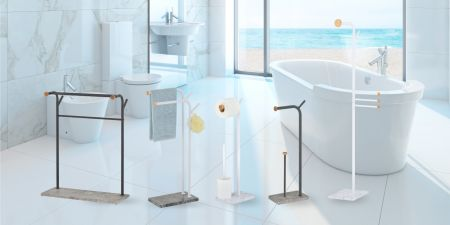Steel construction towel rack - constructed from steel for durability and reliability.