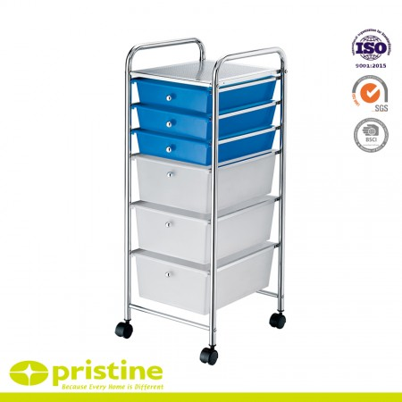 6 Drawer Rolling Storage Cart