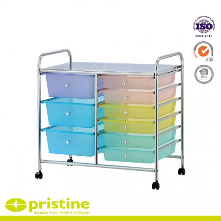 9 Drawer Chrome Studio Organizer Cart