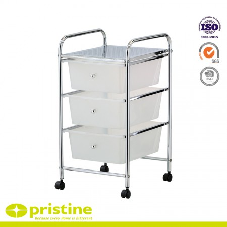 Mobile storage solution- Four casters (two locking)