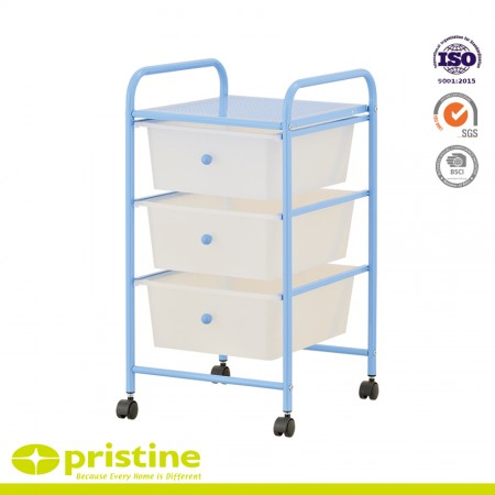 Cart includes four wheels with two locking casters