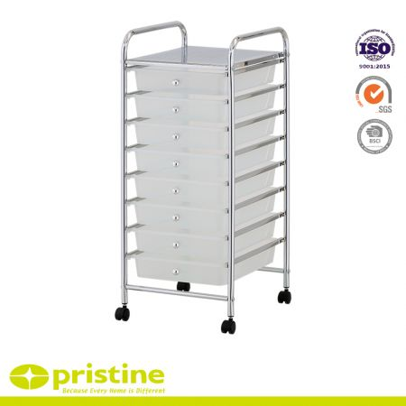 8 Drawer Rolling Storage Organizer Cart - Plastic box with drawers