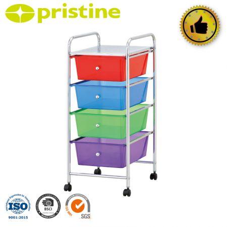 4-drawer organizer cart