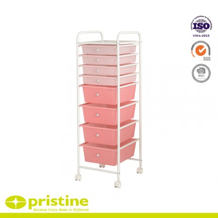 8 Drawer Rolling Storage Cart - Rolling cart with drawers