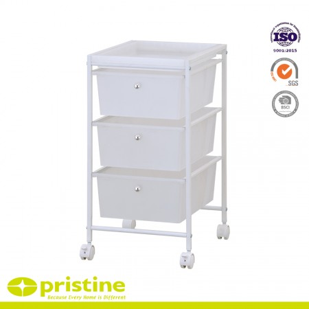 3 drawer storage trolley cart