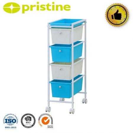 Drawer storage trolley cart